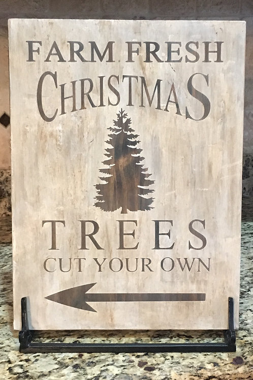 Fresh Farm Christmas Trees 12x16