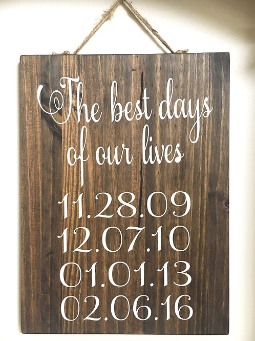 The Best Days of Our Lives