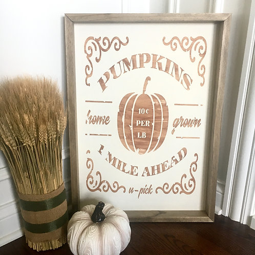 Pumpkins 1 Mile Ahead