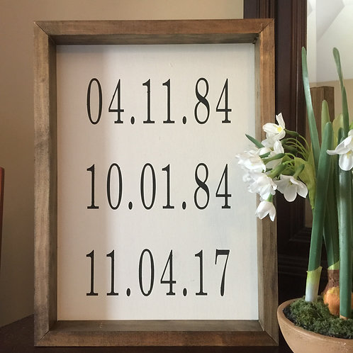 Candle + Important Dates 12x16