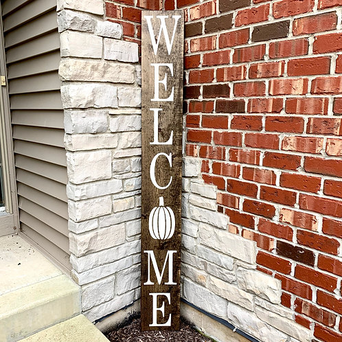 Candle or Lotion + Welcome with Pumpkin, Porch Sign 6ft