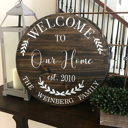 Welcome to Our Home- Circle