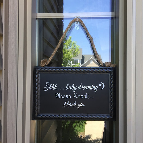 No Soliciting Sign- Baby Dreaming