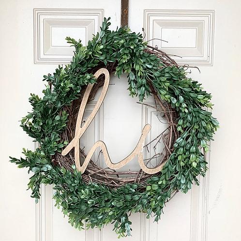 Green Wreath, Hi Sign