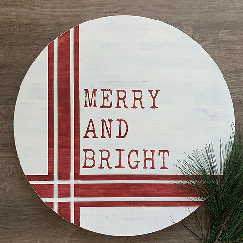 "Candle or Lotion + Merry And Bright 18"" Round"