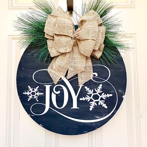 "Wreath- Joy 18"""