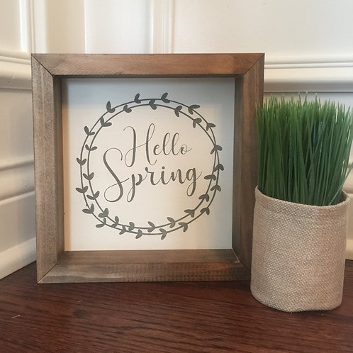 Hello Spring- Wreath (12x12)