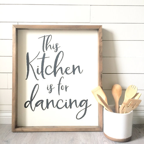 This Kitchen is for Dancing 12x16