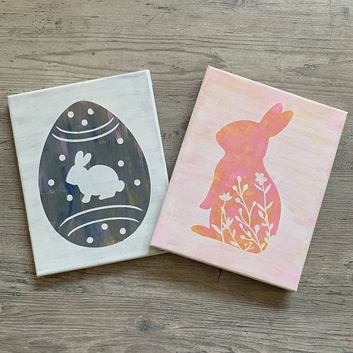 KIDS KIT- Marble Easter Sign 8x10