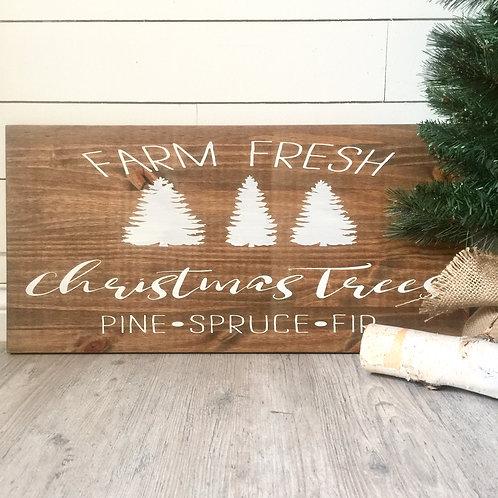 Farm Fresh Christmas Trees 12x24
