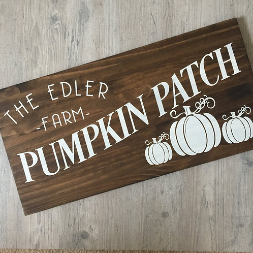 Candle or Lotion + Family Pumpkin Patch 12x24