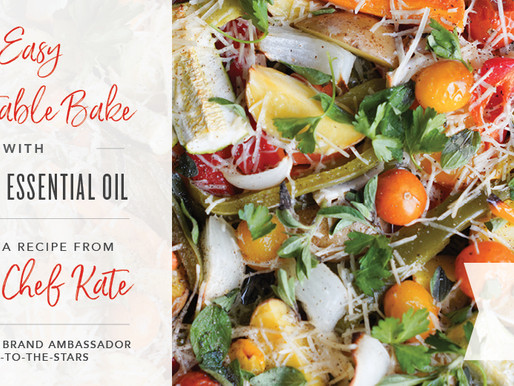 Easy Vegetable Bake with Oregano Essential Oil