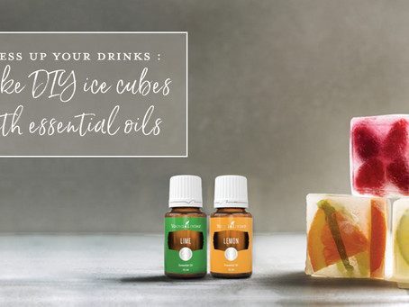 Dress up your drinks: Make DIY ice cubes with essential oils