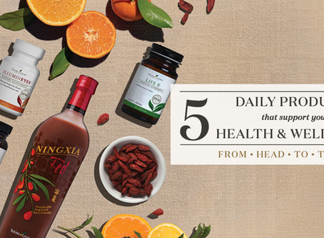 5 daily products for your health & wellbeing