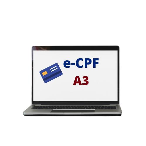 E-CPF  A3 COM LEITORA + CARTÃO