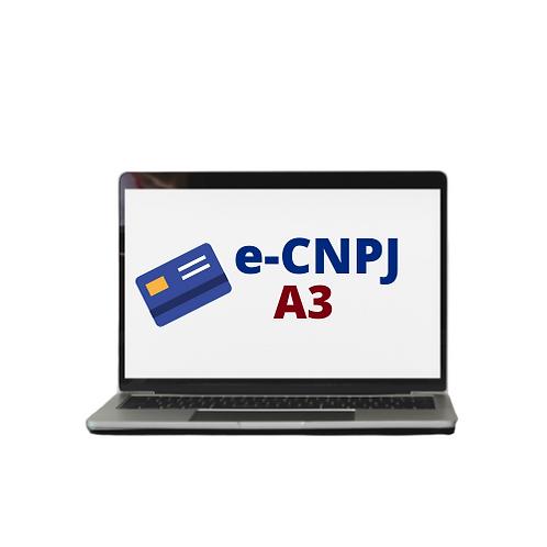 E-CNPJ A3  KIT LEITORA + CARTÃO