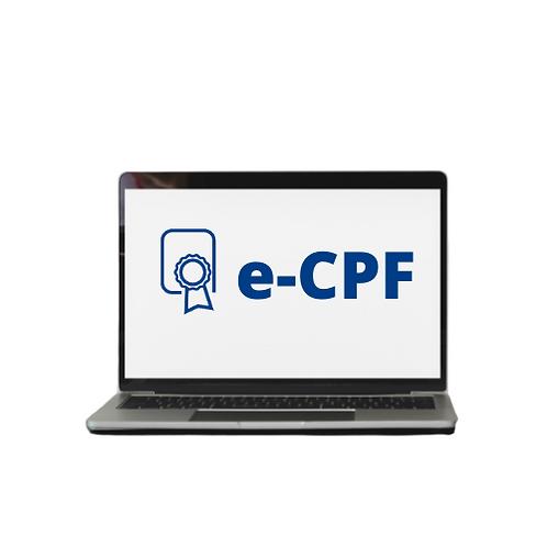 e-CPF A3 - SOMENTE ARQUIVOS (REQUER MIDIA)