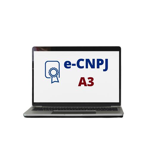 E-CNPJ A3   CARTÃO SEM LEITORA