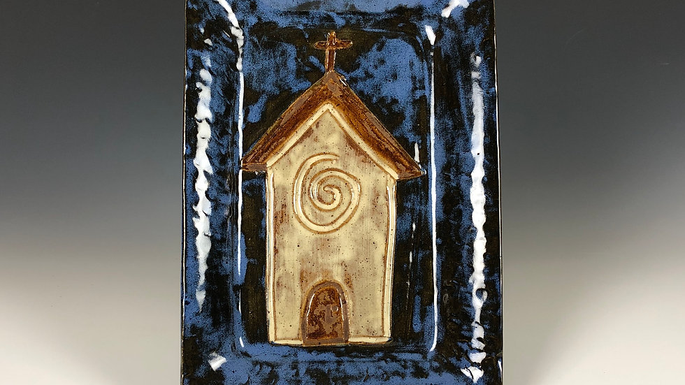 Lg. Rectangle Church Plate w/ Texture