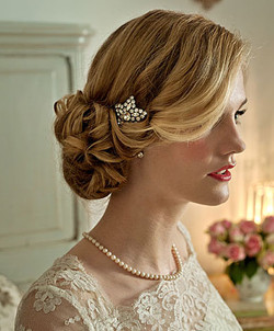 Blonde bride English rose complexion