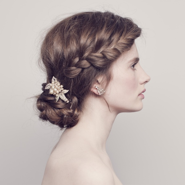 Wedding hair crown for thick hair