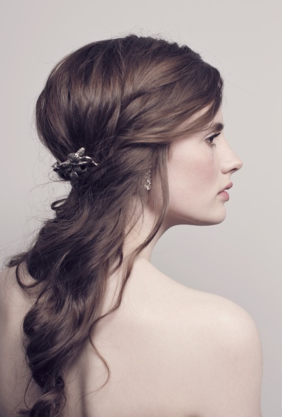 Fallen ponytail wedding hairstyle