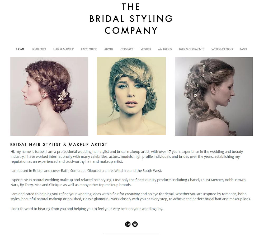 The Bridal Styling Company redesigned website