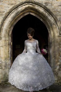 Classic, traditional wedding look