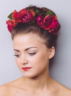 Classic winter wedding makeup & hair