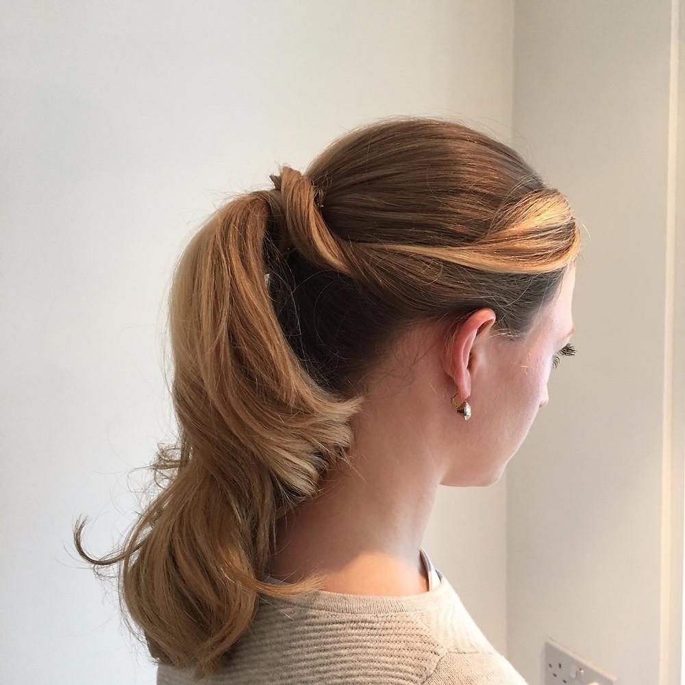 High ponytail bridal hair