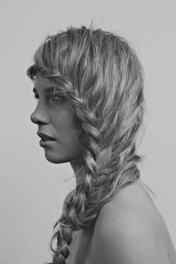 Side braid or plait for bridesmaids