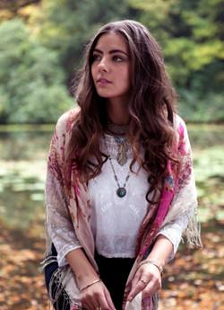 Romantic gypsy natural long hair