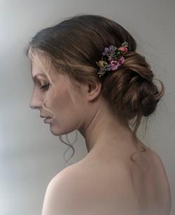 Pretty side bun bride or bridesmaid