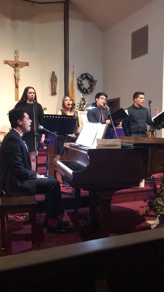 Alma Redemptoris Mater / from last night's concert at the Coronado Base chapel
