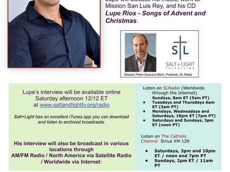 Salt+Light Radio Hour Interview