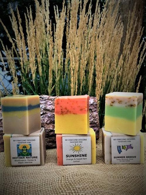 6 BARS of RUSTIC Handmade SOAP