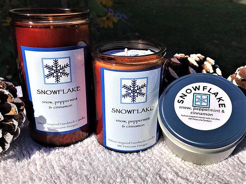 SNOWFLAKE holiday candles