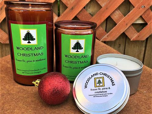 Woodland Christmas candle