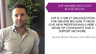 Blaise Regan AYP Member Spotlight - Sept.