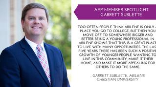 Garrett Sublette Member Spotlight - Oct.