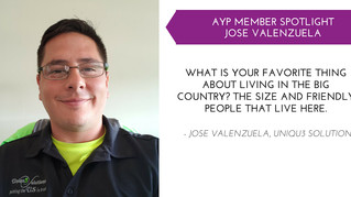 Jose Valenzuela AYP Member Spotlight - Oct