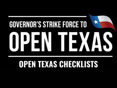 Open Texas Checklist