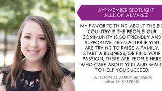Allison Alvarez AYP Member Spotlight - Sept.