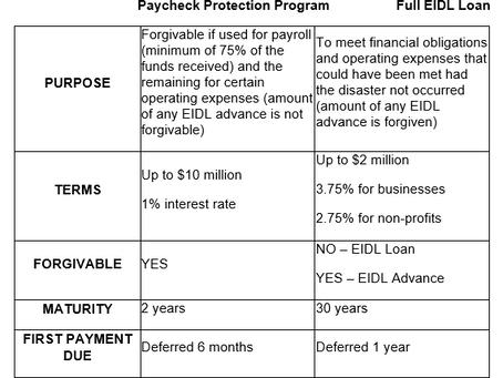 Update on Economic Injury Disaster Loan Advance