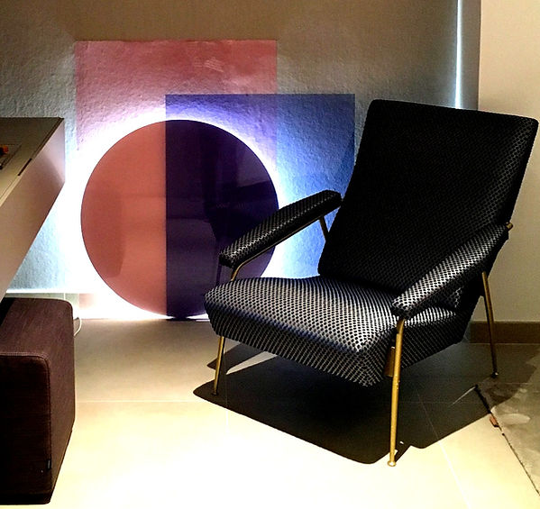 Gio Ponti's armchair detail