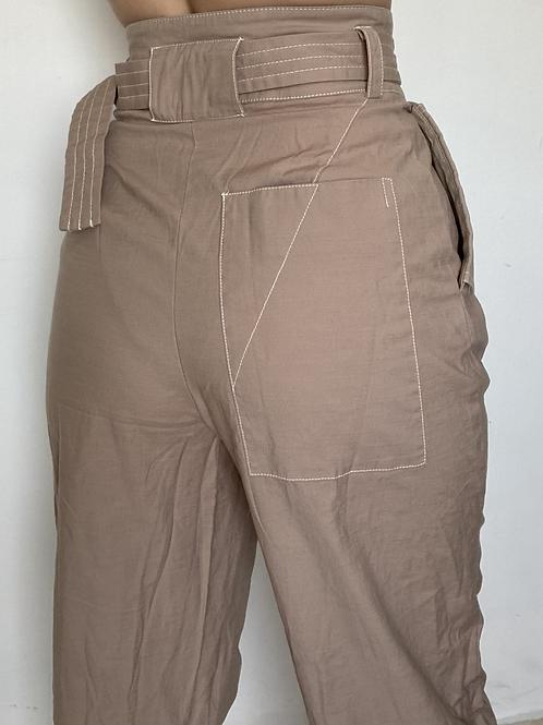 מכנס משולב חגורה TOPSHOP