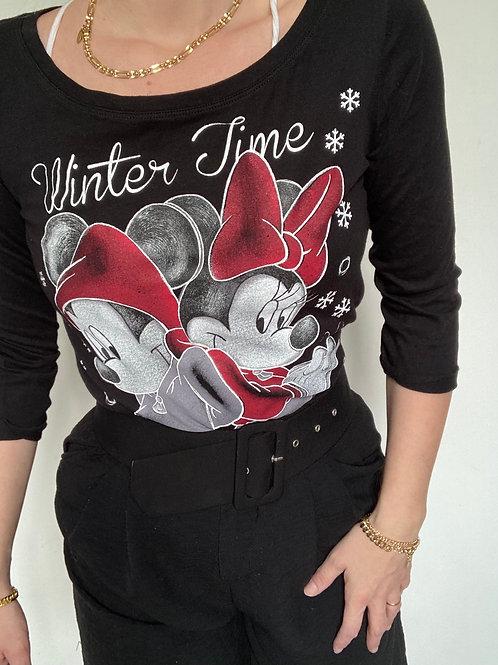 T-shirt Mickey Minnie black