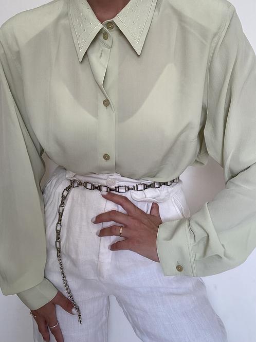 חולצת וינטג׳ בצבע פיסטוק