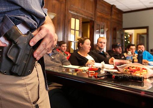 NRA Basic Pistol Milwaukee live shooting exercises live firing shooting instruction