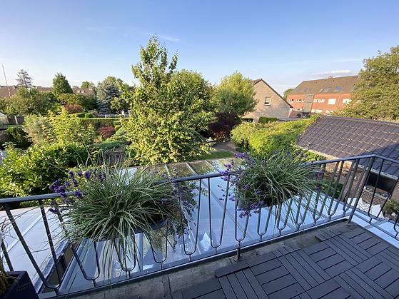 Ferienwohnung Winkeling, Balkon Gartenblick